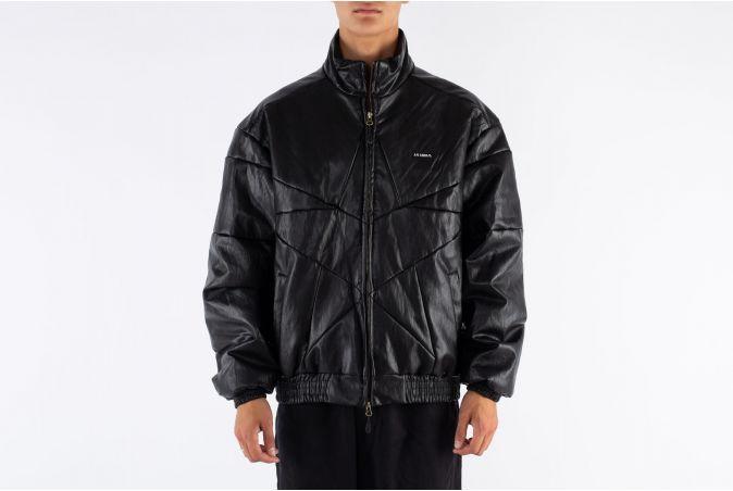 Star Vegan Leather Padded Jacket