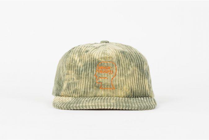 Bleached Cord Logo Head Hat