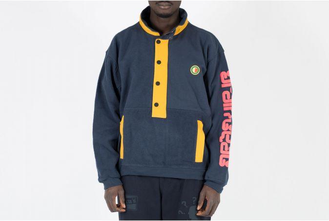 Global Works Snap Mock Neck Pullover