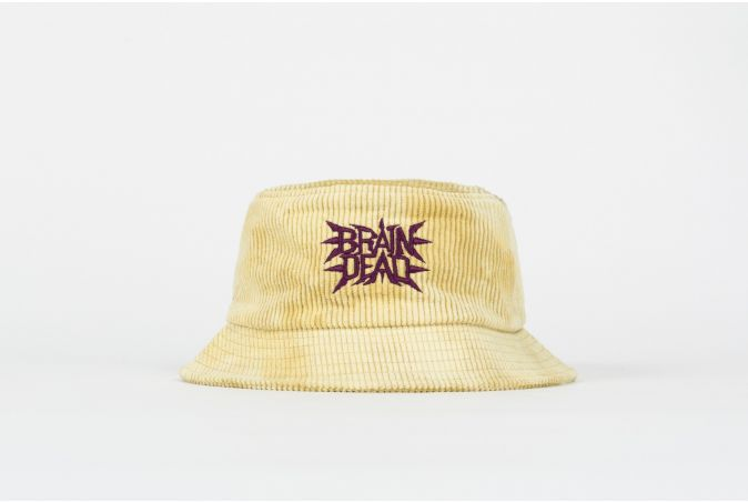 Spikey Bleached Cord Bucket Hat