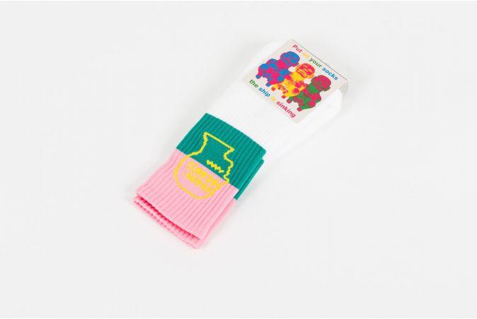 Striped Logo Sock