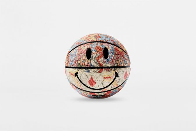 Smiley Patchwork Rug Basketball