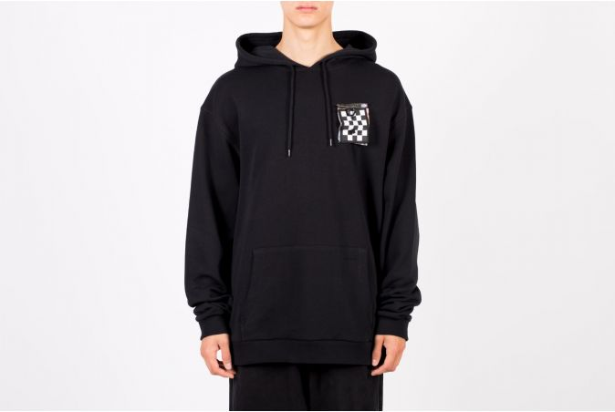 Printed Patch Hooded Sweatshirt