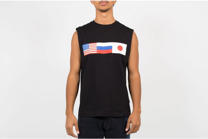 Flag Sleeveless T-Shirt