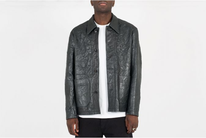 Archive Box Shirt Crinkled Leather