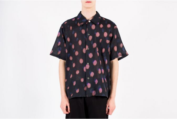 Box Shirt Shortsleeve Strobe Print
