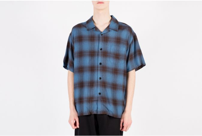 Boxy Shadow Plaid SS Shirt