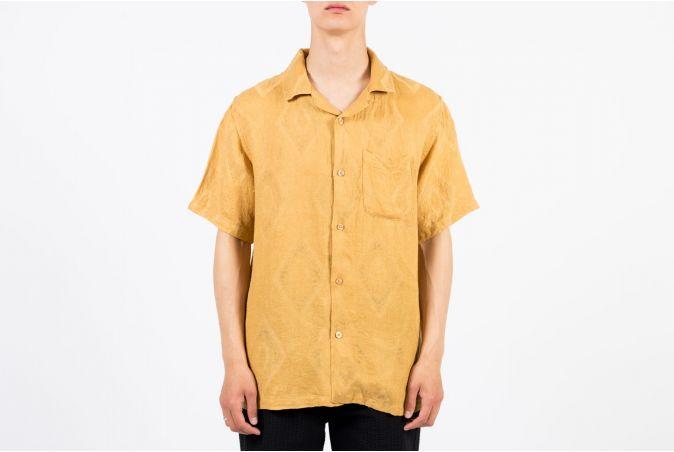 Diamond Jacquard Linen Shirt