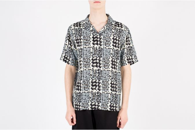 Hand Drawn Houndstooth SS Shirt