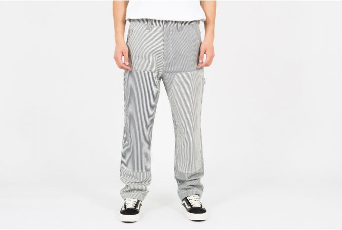 Mixed Stripe Work Pant
