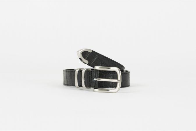 Gator Leather Dress Belt