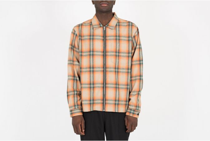 Gunn Plaid Zip Up LS Shirt