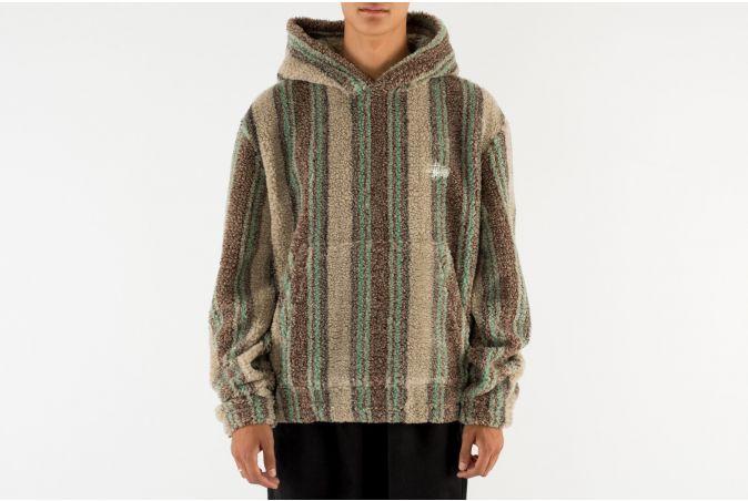 Stripe Sherpa Hoodie
