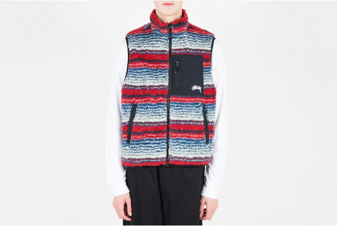 Striped Sherpa Vest