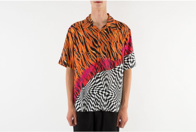 x Aries Distorted Check Shirt