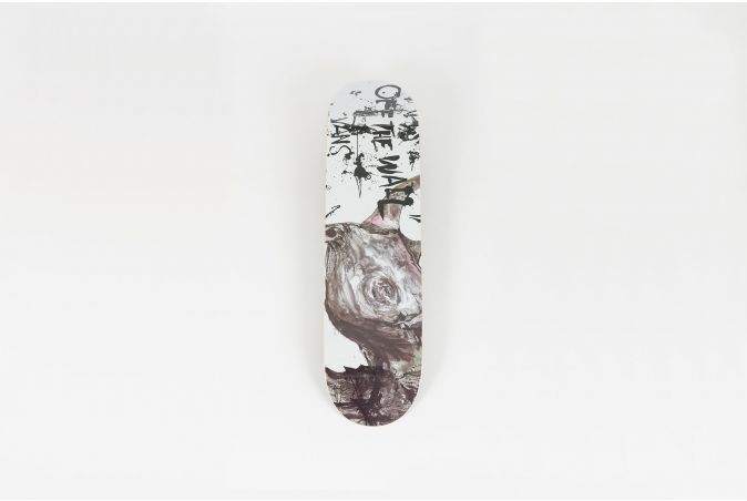 Ralph Steadman 'BLACK RHINO' Skateboard Deck